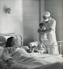 1955 Vintage 11x14 NEWBORN Mother Baby Hospital Doctor France By ROBERT DOISNEAU