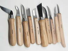 Ramelson Wood Carving Tools Knife Set 10 Pc Whittling Bench Woodworking