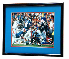 Lawrence Taylor Carson Martin NY Giants signed Sb XXI Framed 16x20 Photo Steiner