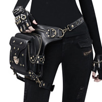 Women Vintage Gothic Steampunk Biker Cycler Rivet Waist Pack Shoulder Bag Leg