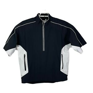 Footjoy DryJoys Tour Collection Black Half Zip Pullover Golf Jacket Size Large