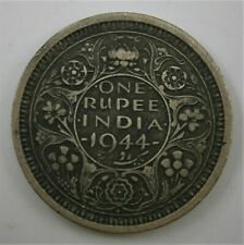Great Britain - India 1944 One Rupee Silver Coin