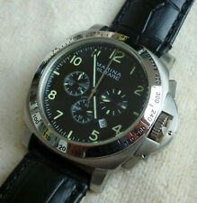 Parnis reloj Marina Militare 44mm Luminor chronograph Miyota vk63a-ungetragen