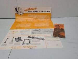"1952 LIONEL Trains Poster 17X24 Insert LAYOUTS ""Model Railroading  is Fun!"" Rare"
