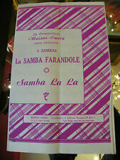 Partition La Samba farandole samba la la Maison Emery Music Sheet