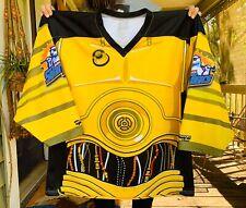 Orlando Junior Solar Bears Star Wars Theme C-3PO Hockey Jersey Adult Size Medium