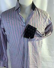 Men's English Laundry Blue Flip Cuff LS Shirt Size 16  32-33