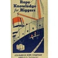 Richards Conover Hardware Kansas City OK Columbian Rope Knowledge Riggers Vtg 3R