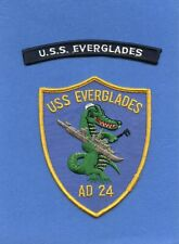 USS Everglades AD 24 Navy Jacket Patch with Shoulder Tab