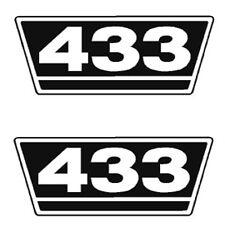 IHC Traktor Aufkleber 2xTypenaufkleber 433 Logo Emblem Sticker Label ca.21x9,5cm