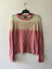 Sweet N Sinful Sweater Womens Medium Pink Long Sleeve Knit Acrylic Top Pullover