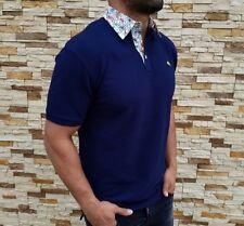 Etro Polo Shirt Men's Size Medium Blue Purple Collar Casual