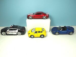 4 1/32 Scale Cars: Jada Camaro and Dodge, Kinsfun Prius, Kintoy Speedster Turbo