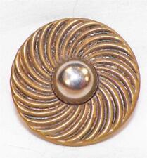 Vintage Goldtone & Silvertone Metal Coat Button Retro Swirled Coat Jacket #5