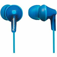 NEW Panasonic RP-HJE125-A Stereo In Ear Canal Bud Ergofit Headphones Blue