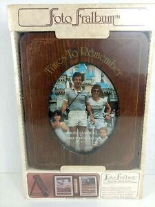 Vintage Wooden Photo Album Frame Cover ~ 'Foto Fralbum' ~ 1983 ~ NIP