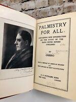 Cheiro's Hamon Palmisty for All Palmistry Cheiromancy Fortune Telling 1916