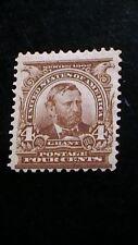 MNH OG SERIES OF 1902 4c GRANT STAMP  Sc#303 CV$150.   875B3