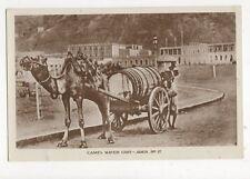 Camel Water Cart Aden RP Postcard 209a