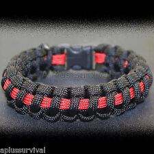 Fire Fighter Paracord Rope Emergency Survival Bracelet 9 Feet 7 Strand 550 LB