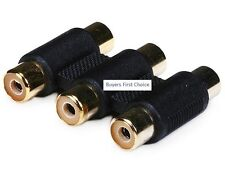 3-RCA Coupler for Component Video Cable Extension - Single Color