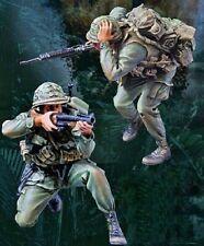 1/35 Resin Vietnam War US Infantryman 2 Warriors Unassembled Unpainted BL688
