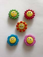 DRESS IT UP How U Doing Fun Flowers Novelty Buttons
