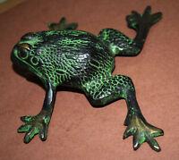 Frog Statue Toad Figurine Brass Handmade Vintage Style Frog Garden Decor Gift