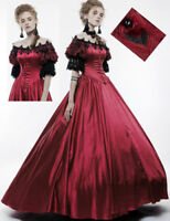 Ball Gown dress princess gothic victorian baroque satin lacing lace red Punkrave