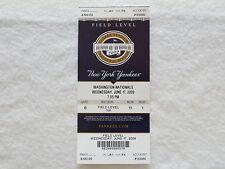 NEW YORK YANKEES 2009 YANKEE STADIUM INAUGURAL SEASON MINT TICKET STUB 6/17/09