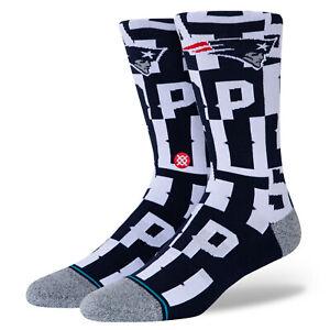 2021 New England Patriots Stance NFL Branded Logo Crew Socks Large Men's 9-13