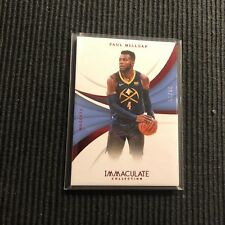 2017/18 PANINI IMMACULATE #60 PAUL MILLSAP *RED CARD #30/35*  DENVER NUGGETS