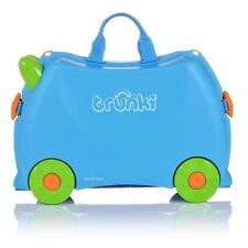 Trunki Terrance Ride on Hand Luggage Pull Along Suitcase 18l for Kids Ages 3