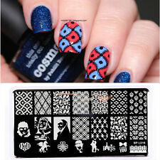 Nail Art Stamping Vintage Demask Theme Love Stencil Template Image Plate BPL016