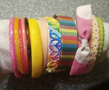Lot of 13 fabric & Plastic Girl's Headbands Hair Bands Thick + Thin