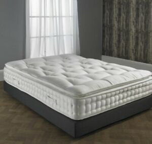 6ft Super King size Luxury 25000 Pillow Top Pocket Sprung Mattress RRP £1199.99