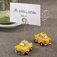 100 Vintage Yellow Taxicab Place Card Holder Wedding Bridal Shower Party Favor