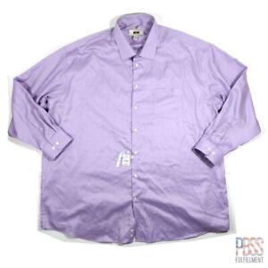 Joseph Abboud Men 3XL Tall Long Sleeve Button Down Cotton Pocket Non-Iron Purple
