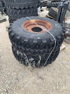 14.5R20 tires and rims  Continental 18 ply 5250906 8 lug 11x20 Rim Set Of 2 Néw