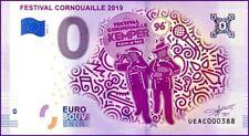 UE AC-2 / FESTIVAL CORNOUAILLE / BILLET SOUVENIR 0 € / 0 EURO BANKNOTE / 2019-2