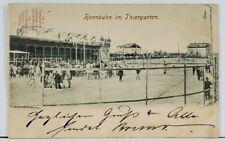 Germany Rennbahn im Thiergarten 1900 Racecourse Cyclists Bicycles Postcard L1
