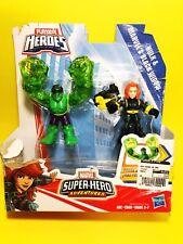 Hulk + Black Widow - Playskool Heroes Marvel Comics Adventures Avengers B10#109