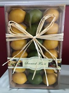 18 Pack - Artificial Yellow Lemons & Green Limes 12 Lemons 6 Limes Scented