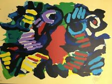 Karel Appel Summer Couple 1979 Abstract Signed Art Lithograph