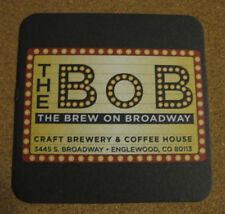 The BOB Brew on Boardway Beer Beverage Coasters NEW Advertising Englewood, CA x2
