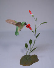 Open-winged Ruby-throated Hummingbird/Birdhug Carvings
