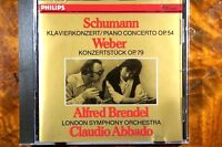 Schumann - Piano Concerto Op. 54 Alfred Brendel (1980) CD, Germany, VG - 4122512
