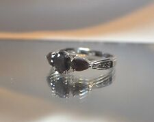 GLAMOROUS 2.11 ct. NATURAL SILVER SAPPHIRE PLATINUM OVER STERLING SILVER