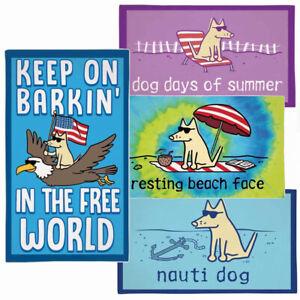 Teddy the Dog Beach Towel Barkin' in the Free World Dog Days Resting Beach Face
