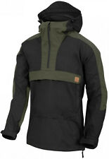 Helikon-Tex Woodsman Anorak Jacket Soft Shell Black / Taiga Green Outdoor Jacke